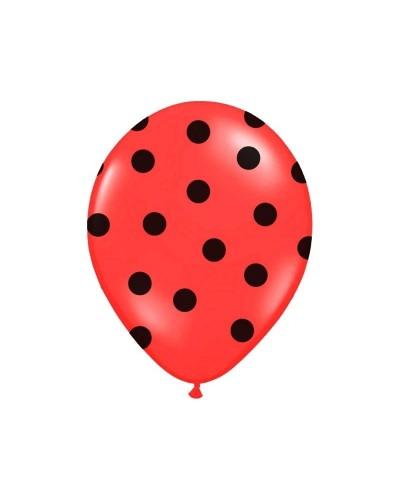 Balon czerwony w czarne kropki