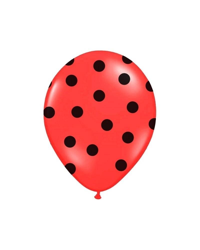Czerwony balon w czarne kropki