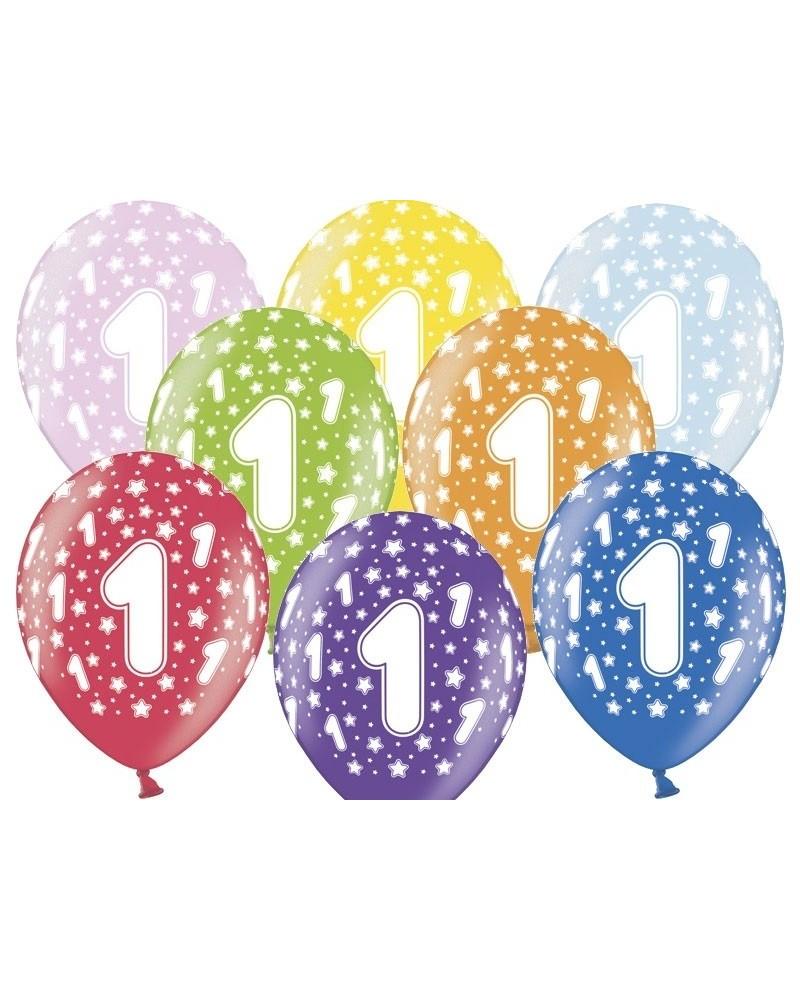 Balon pastelowy na 1 urodziny
