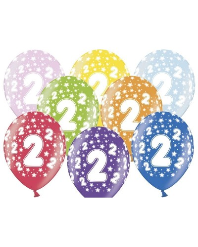 Balon pastelowy na 2 urodziny