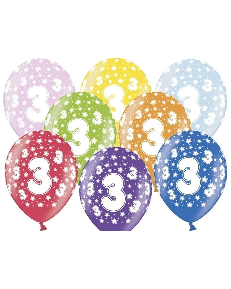 Balon pastelowy na 3 urodziny