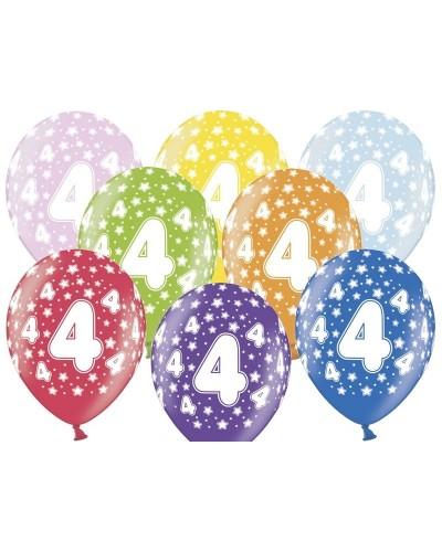 Balon pastelowy na 4 urodziny