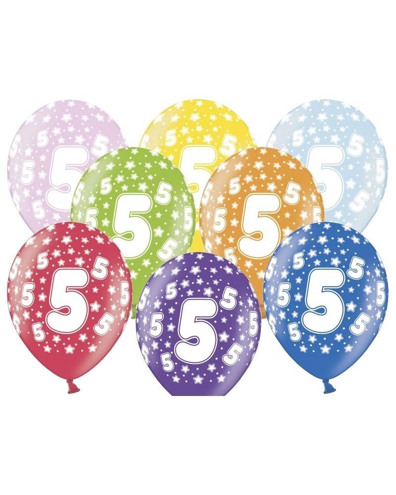 Balon pastelowy na 5 urodziny