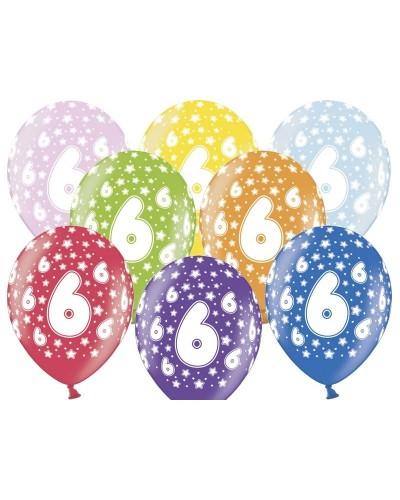 Balon pastelowy na 6 urodziny