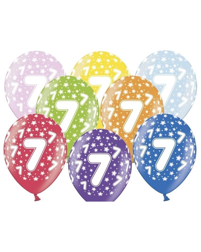 Balon pastelowy na 7 urodziny