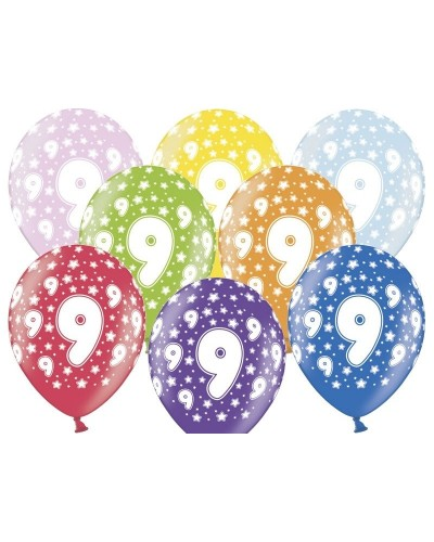 Balon pastelowy na 9 urodziny
