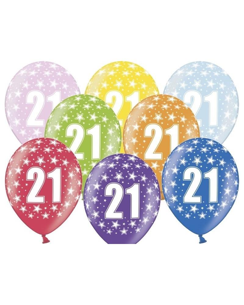 """Balon pastelowy na """"21"""" urodziny"""