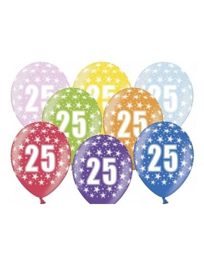 Balon pastelowy na 25 urodziny