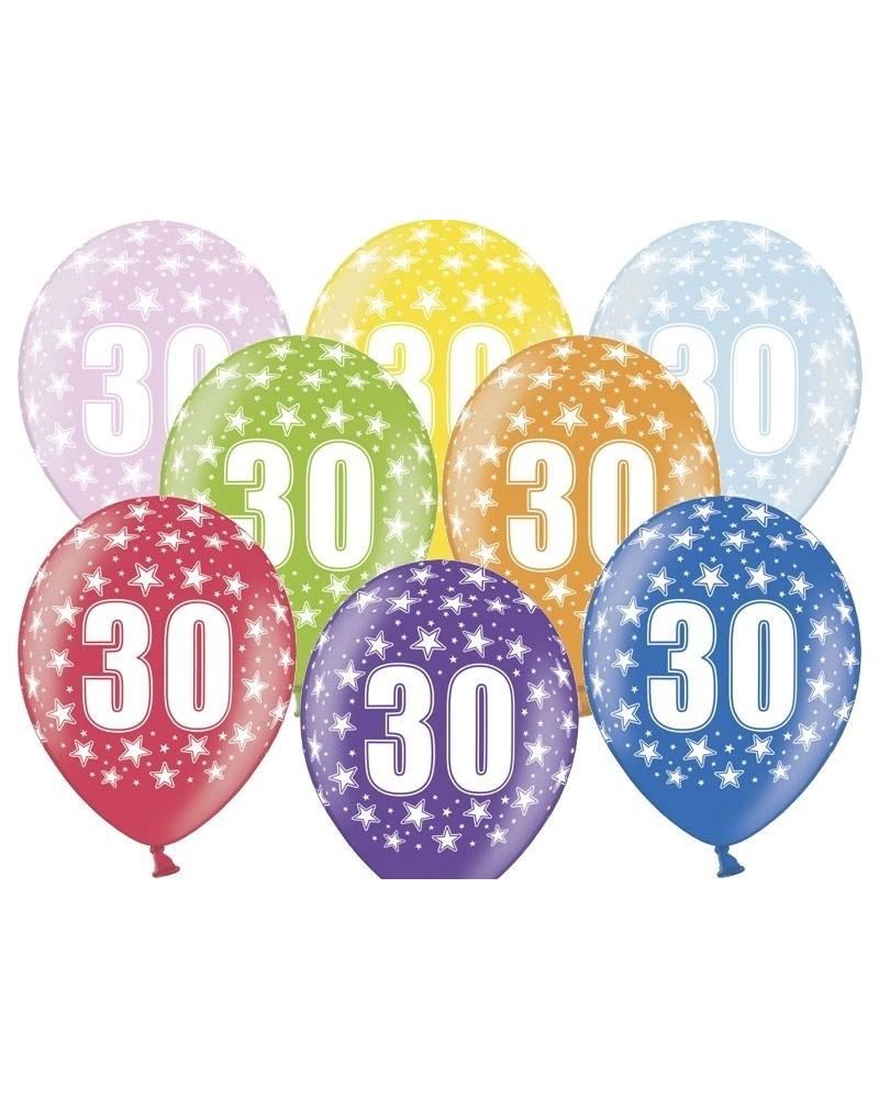 """Balon pastelowy na """"30"""" urodziny"""