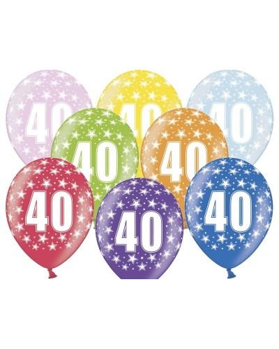 Balon pastelowy na 40 urodziny