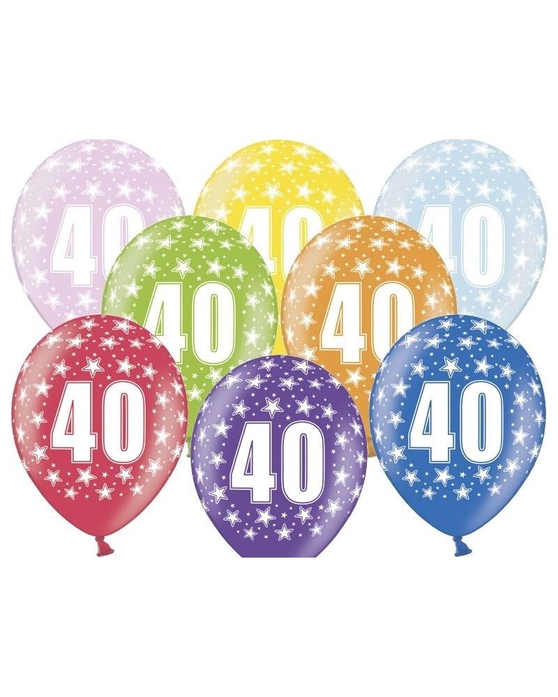 """Balon pastelowy na """"40"""" urodziny"""