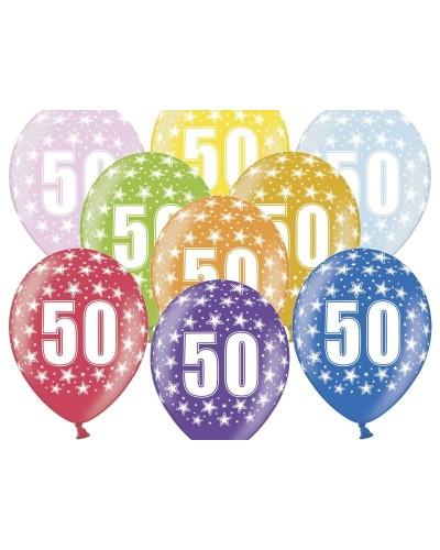 Balon pastelowy na 50 urodziny
