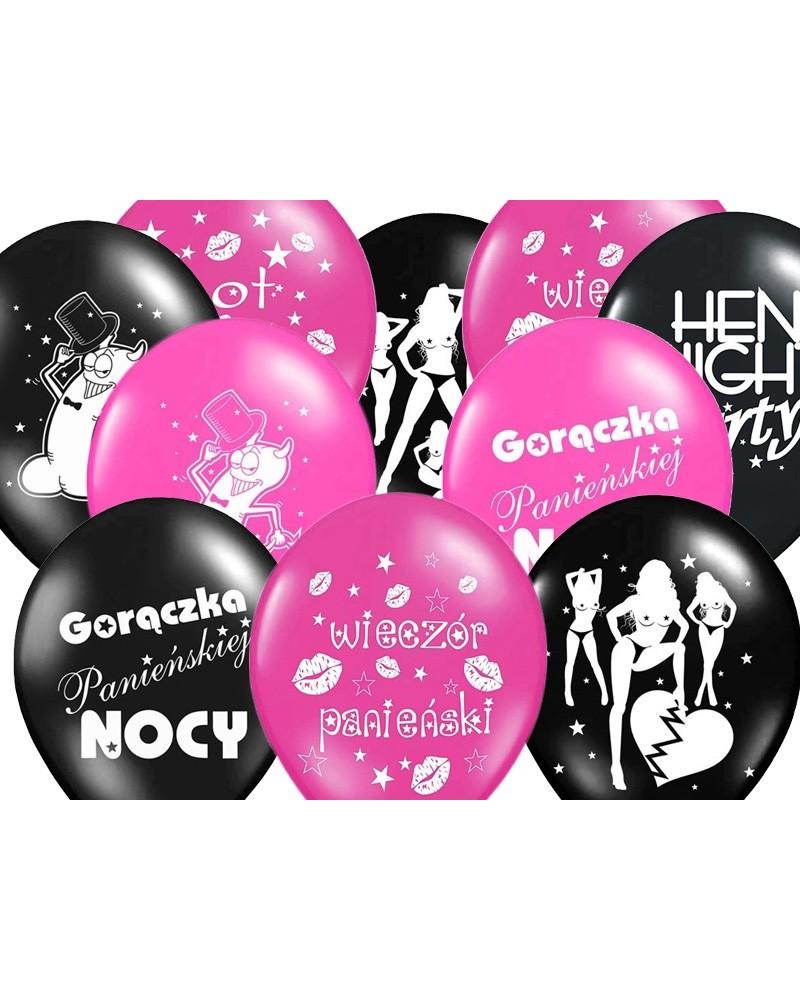 Balony na wieczór panieński 10 sztuk