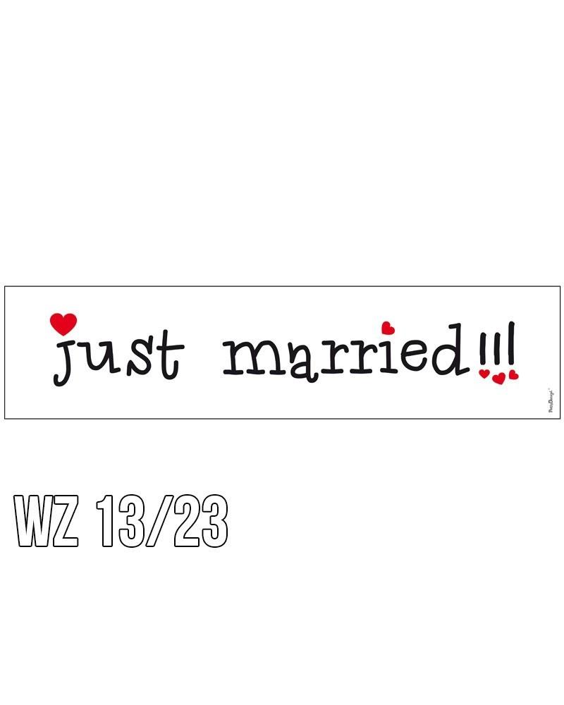Tablica rejestracyjna na ślub WZÓR 13