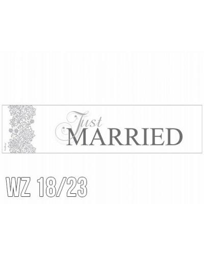 Tablica rejestracyjna na ślub WZÓR 18