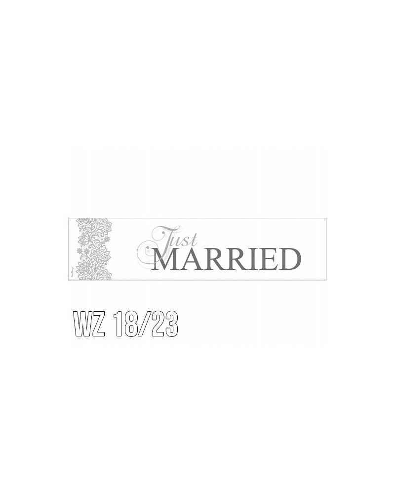 Tablica rejestracyjna na ślub