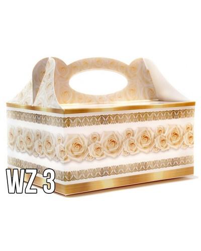 Pudełko na ciasto o charakterze ślubnym WZÓR 3