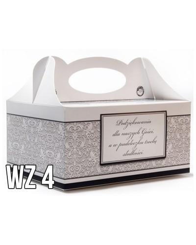 Pudełko na ciasto o charakterze ślubnym WZÓR 4
