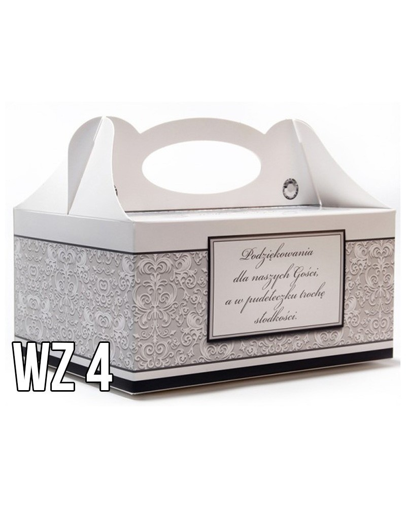Pudełko na ciasto o charakterze ślubnym