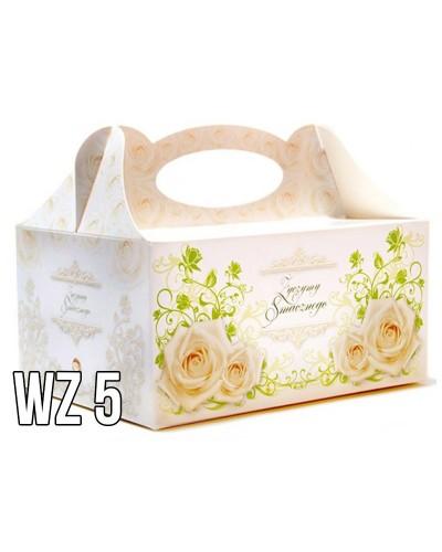 Pudełko na ciasto o charakterze ślubnym WZÓR 5