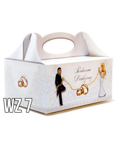 Pudełko na ciasto o charakterze ślubnym WZÓR 7