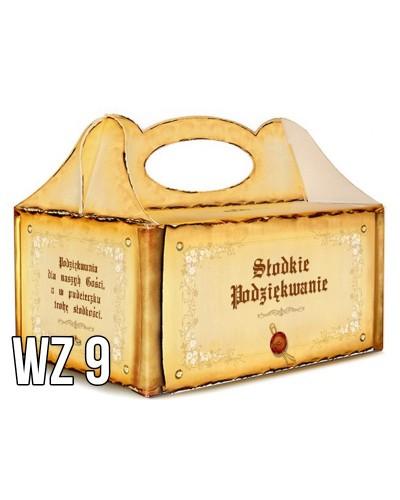 Pudełko na ciasto o charakterze ślubnym WZÓR 9