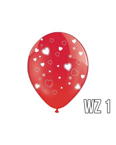 Balony z nadrukiem serca na walentynki, wesele WZÓR 1
