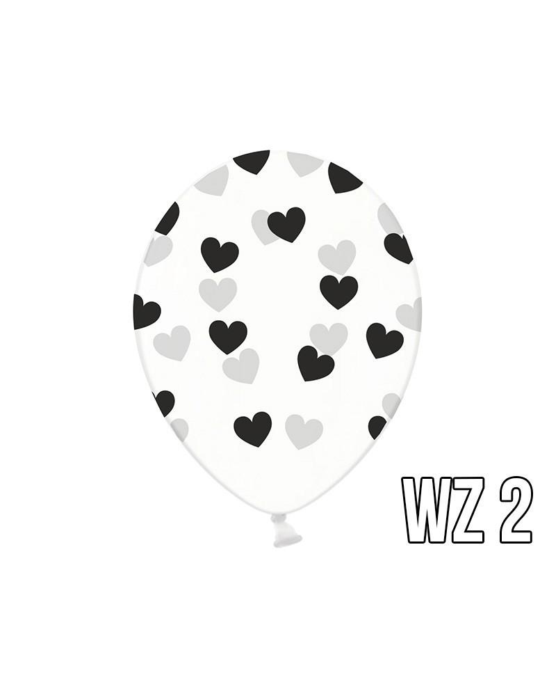 Balony z nadrukiem serca na walentynki, wesele WZÓR 2