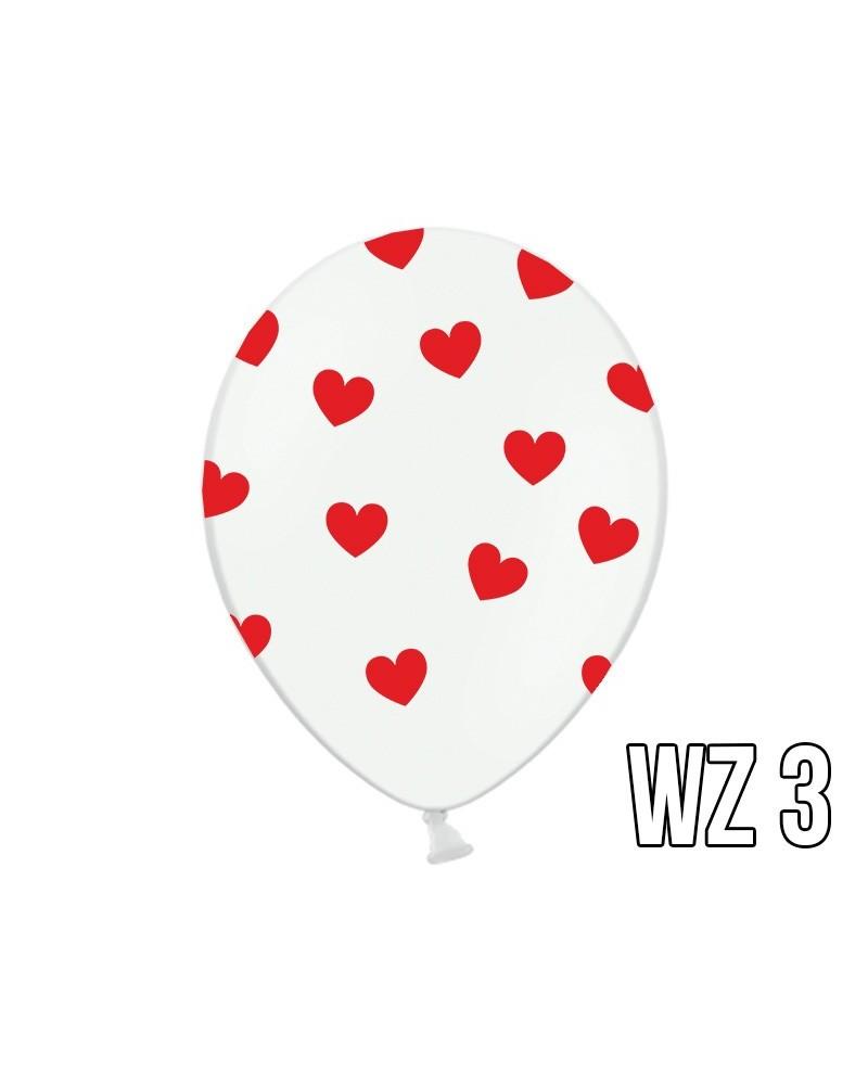 Balony z nadrukiem serca na walentynki, wesele WZÓR 3