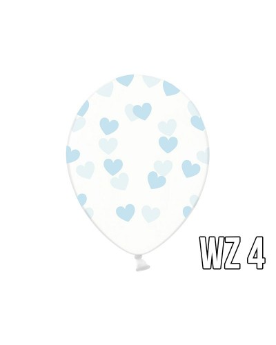 Balony z nadrukiem serca na walentynki, wesele WZÓR 4