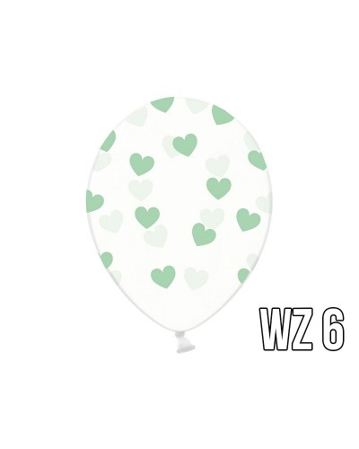 Balony z nadrukiem serca na walentynki, wesele WZÓR 6