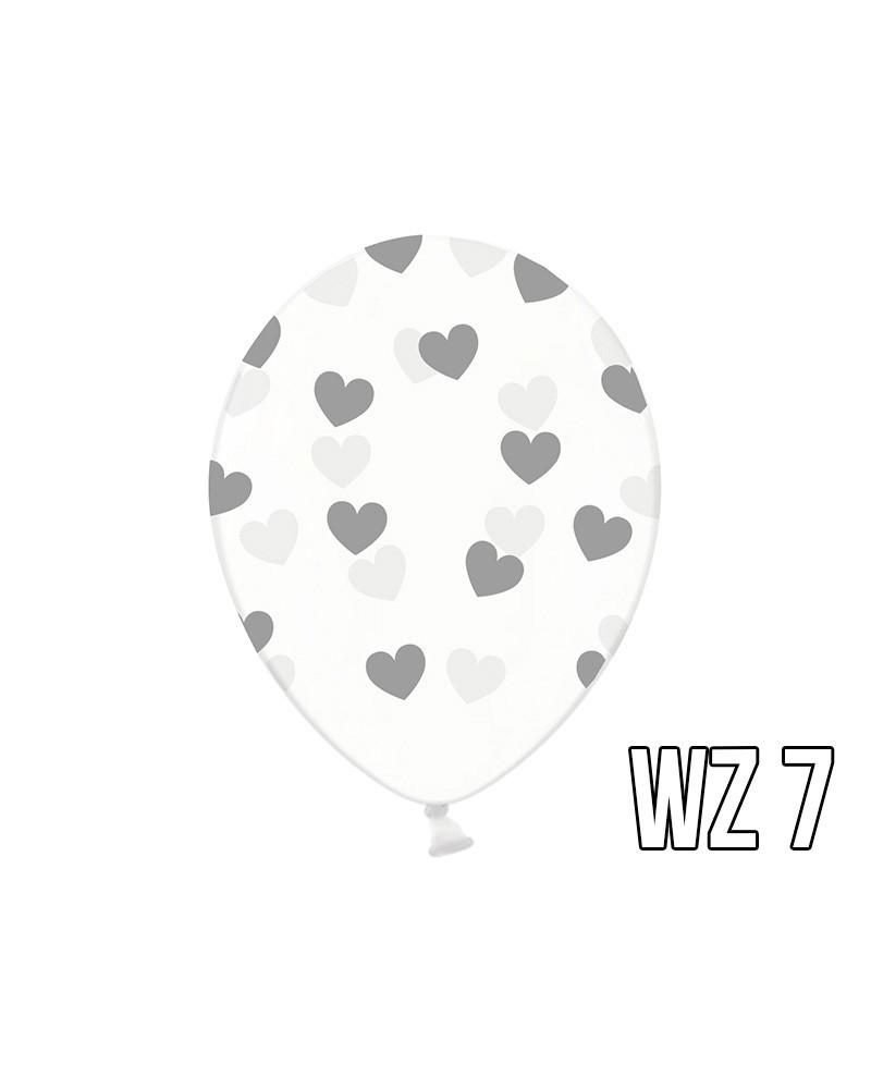 Balony z nadrukiem serca na walentynki, wesele WZÓR 7