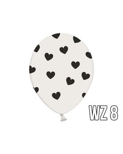 Balony z nadrukiem serca na walentynki, wesele WZÓR 8