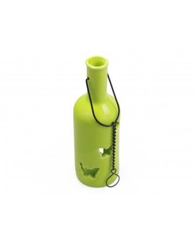 Lampion świecznik zawieszany zielony