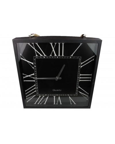 Zegar Loft w kolorze czarnym