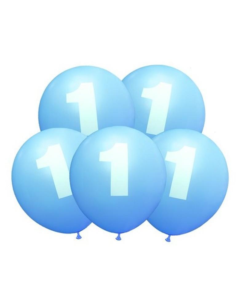 Balony na urodziny Błękitne w Jedynki