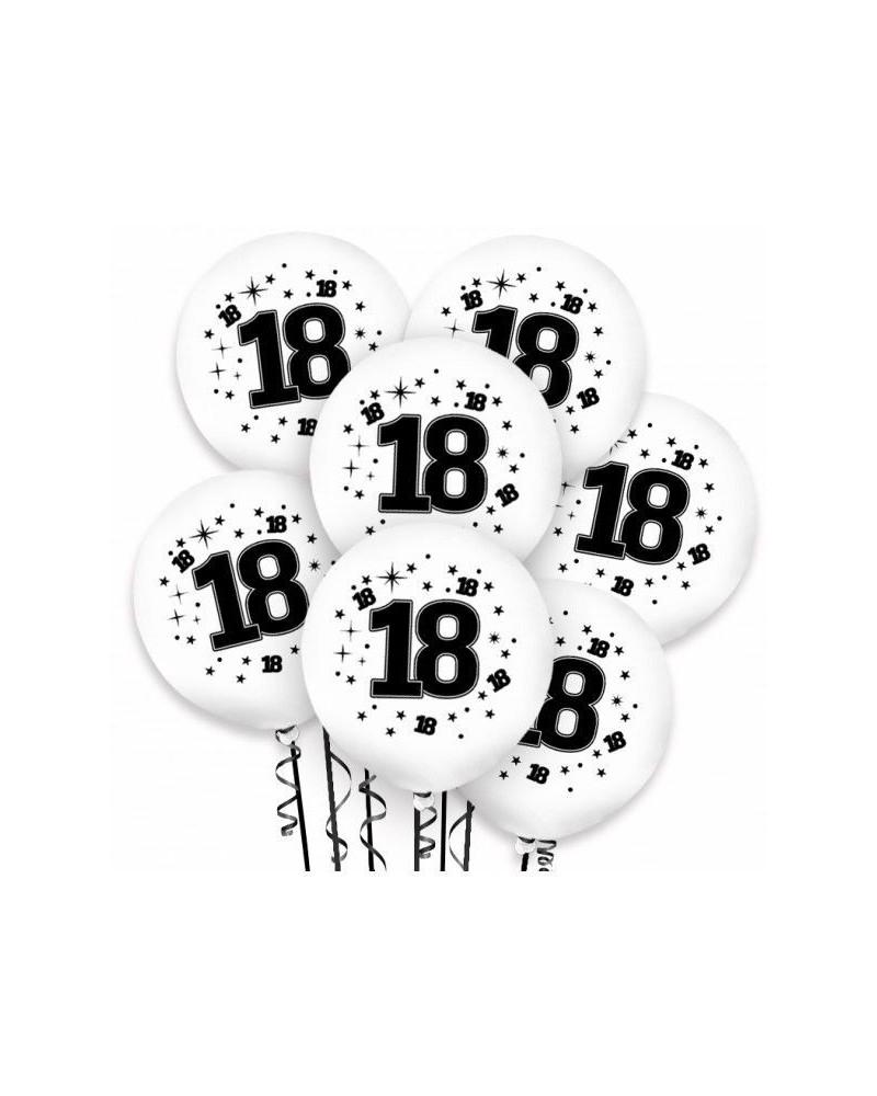 Balony na 18 urodziny Białe