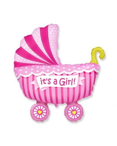 Balon foliowy na Baby Shower dziewczynka
