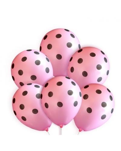 Balony na wieczór panieński Różowe w Kropki