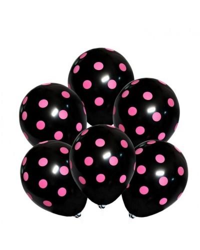 Balony na wieczór panieński Czarne w Kropki