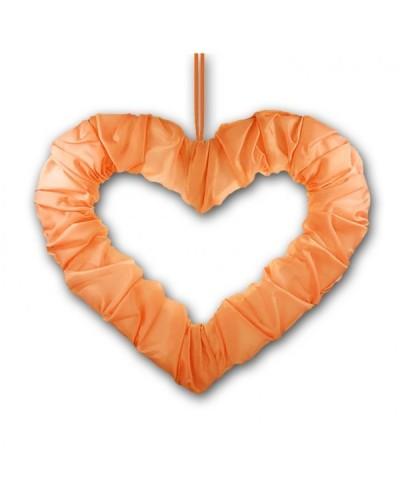 Serce na tasiemce 50cm Pomarańczowe
