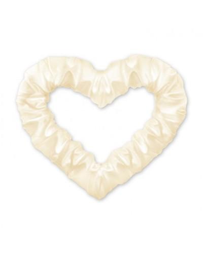 Serce z połyskiem 50cm Kremowe