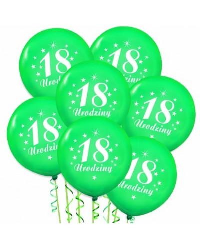 Balony na 18stke Zielone