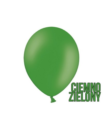 "Balony pastelowe 10"" Ciemnozielone"