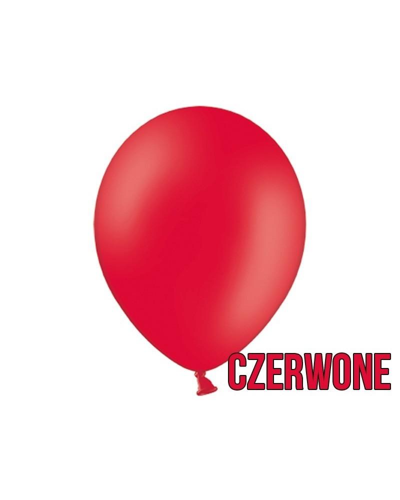 """Balony pastelowe 10"""" Czerwone"""