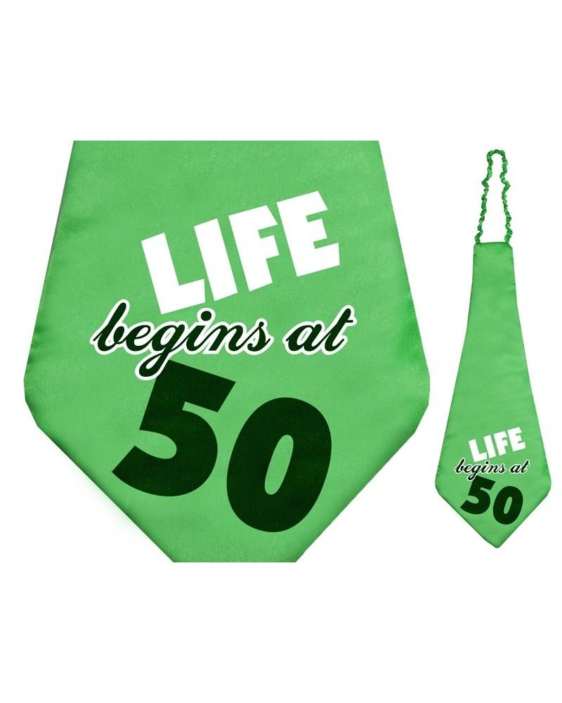 Śmieszny krawat na 50 urodziny