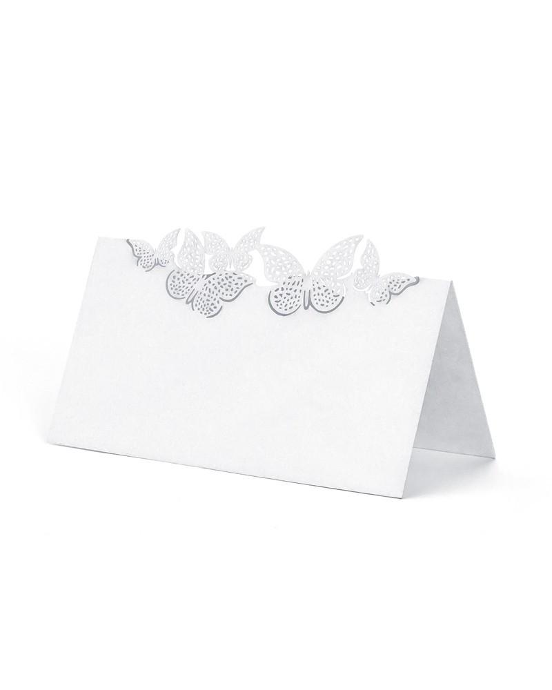 Winietki ślubne motylki
