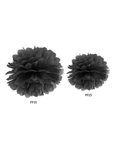 Pompon bibułowy 35cm Czarny