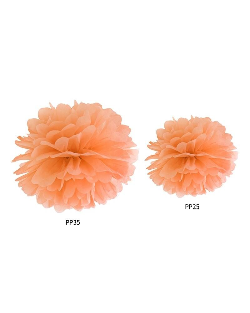 Pompon bibułowy 35cm Pomarańcz