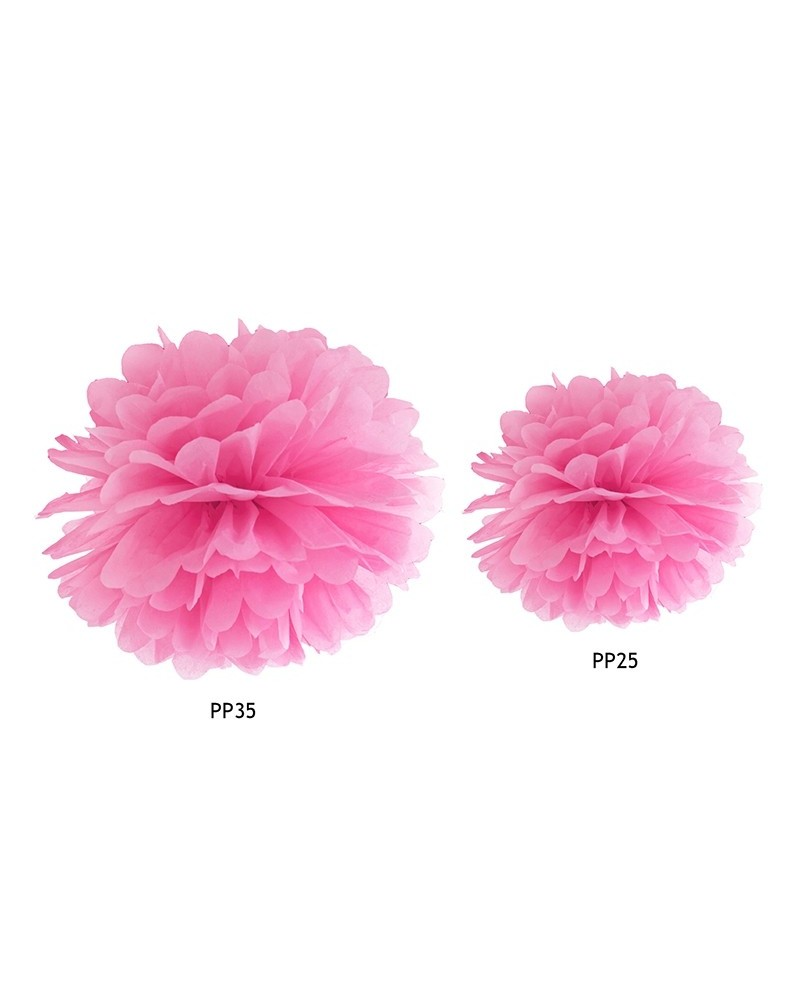 Pompon bibułowy 35cm Różowy